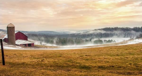 Sunrise On The Farm Art Print