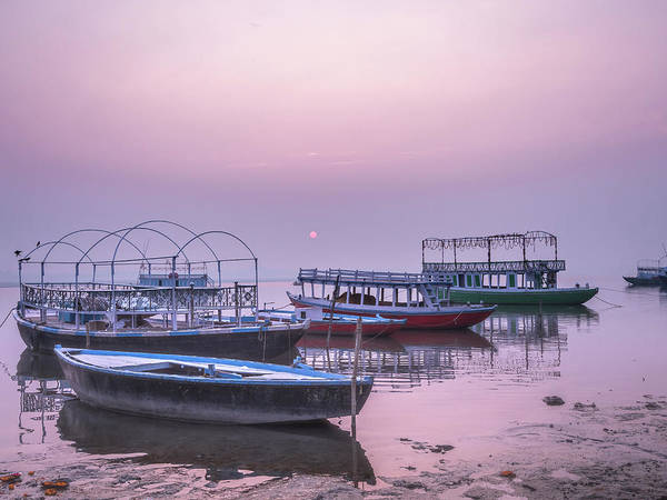 Photograph - Sunrise On The Ganges. by Usha Peddamatham