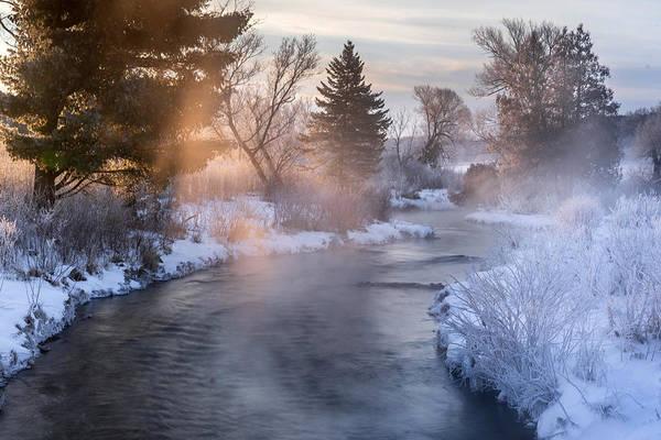 Photograph - Sunrise On The Snowy Creek by Tailor Hartman
