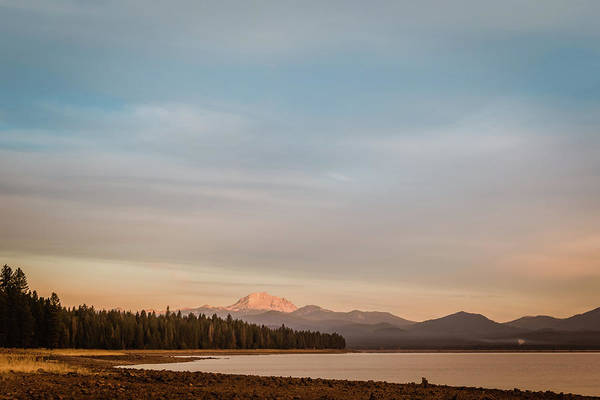 Photograph - Sunrise On Westshore Lassen Peak by Jan Davies
