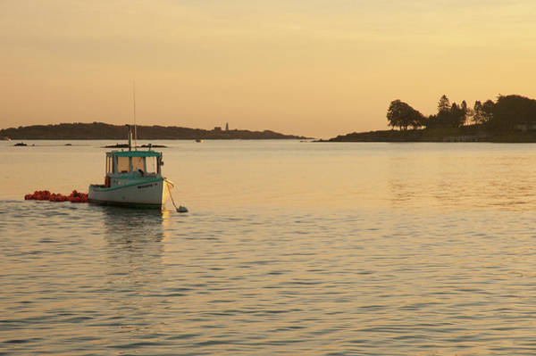 Photograph - Sunrise Over A Lobster Cove by Mark Duehmig