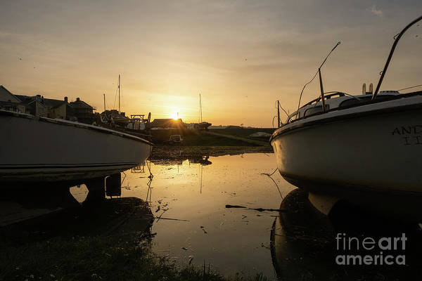 Photograph - Sunrise Over Aberystwyht Harbour by Keith Morris