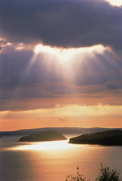 Bar Photograph - Sunrise Over Bar Harbor, Cadillac by Elizabeth Delaney