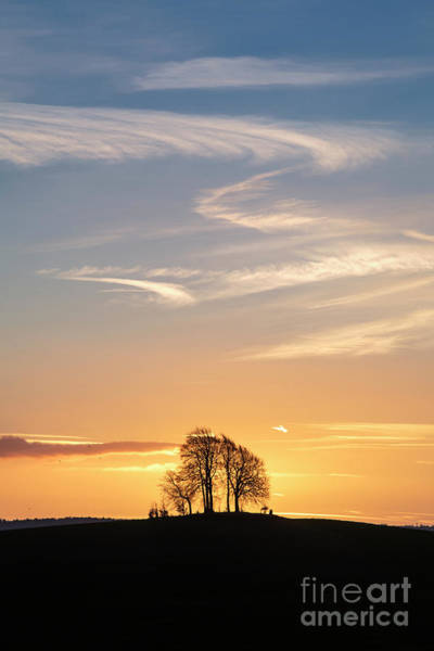 Wall Art - Photograph - Sunrise Over Brightwell Round Barrow by Tim Gainey