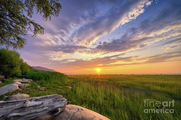 Wall Art - Photograph - Sunrise Over Charlevoix  by Laurent Lucuix