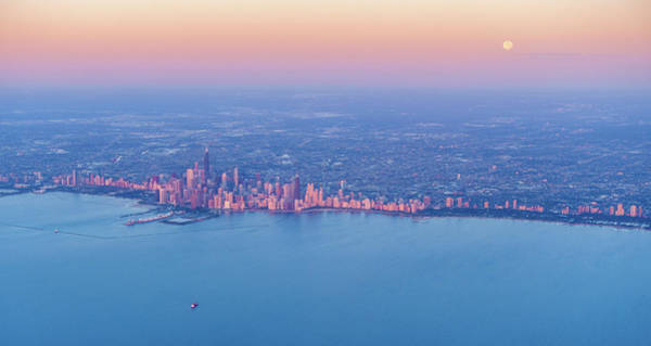 Wall Art - Photograph - Sunrise Over Chicago Downtown by Alexey Stiop