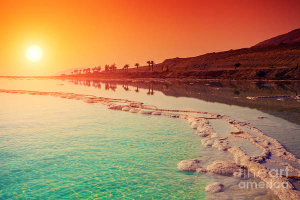 Wall Art - Photograph - Sunrise Over Dead Sea by Vvvita