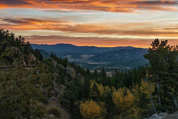 Photograph - Sunrise Over Estes Valley by Darlene Bushue