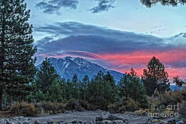 Interstate 5 Wall Art - Photograph - Sunrise Over Mount Shasta by Robert Bales