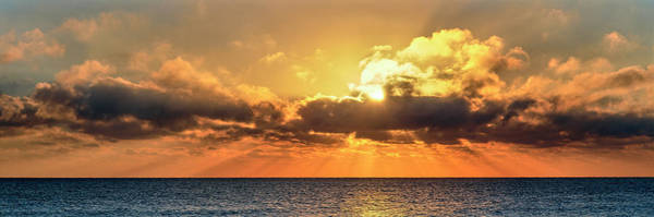 Wall Art - Photograph - Sunrise Over Ocean, Florida, Usa by Panoramic Images