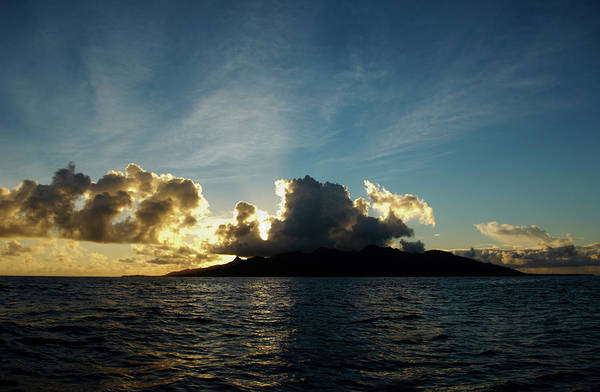 Rarotonga Photograph - Sunrise Over Rarotonga, Cook Islands by Stephen Pennells