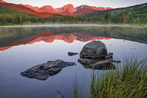Photograph - Sunrise Over Sprague Lake - Rocky Mountain National Park by Gregory Ballos