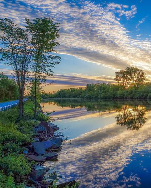 Photograph - Sunrise Over The Champlain Canal by Kendall McKernon