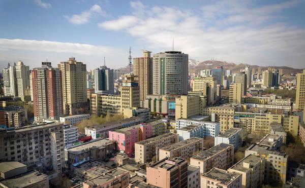 Photograph - Sunrise Over The City Urumqi Xinjiang China by Adam Rainoff