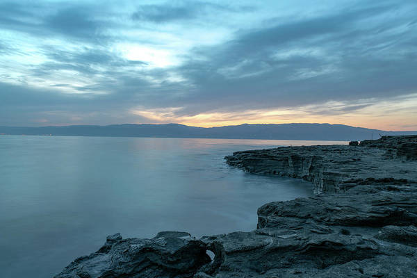 Art Print featuring the photograph Before Dawn At The Dead Sea by Dubi Roman