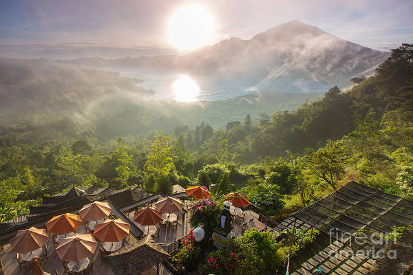 Volcanic Craters Photograph - Sunrise Over The Valley With Villages by Ko Backpacko