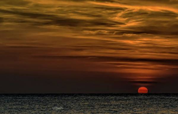 Photograph - Sunrise Over Water by David Pine