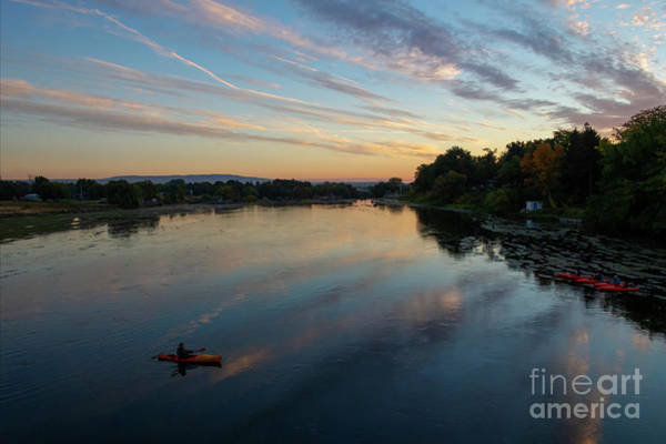 Watersports Photograph - Sunrise Paddle by Mike Dawson