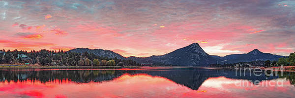 Wall Art - Photograph - Sunrise Panorama Of Mount Olympus And Lake Estes Park - Rocky Mountain National Park - Colorado by Silvio Ligutti