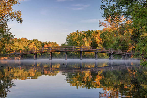 Photograph - Sunrise Reflections At Concord's North Bridge by Kristen Wilkinson