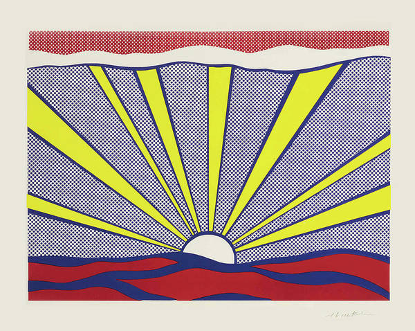 Photograph - Sunrise - Roy Lichtenstein, 1965 by Doc Braham - In Tribute to Roy Lichtenstein