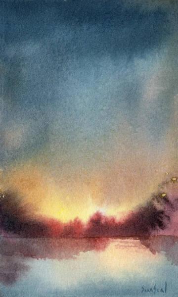 Wall Art - Painting - Sunrise Saginaw River by Sean Seal