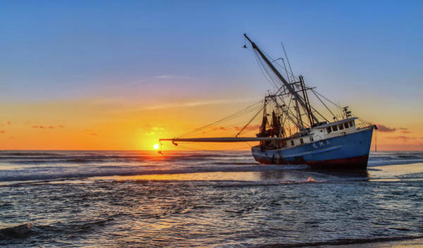 Photograph - Sunrise Shrimp Boat 2 by Dillon Kalkhurst