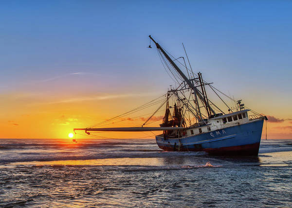 Photograph - Sunrise Shrimp Boat by Dillon Kalkhurst