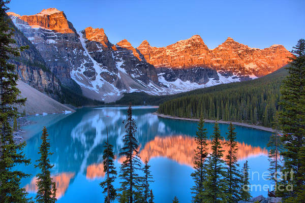 Photograph - Sunrise Spectacular At Moraine Lake 2019 by Adam Jewell