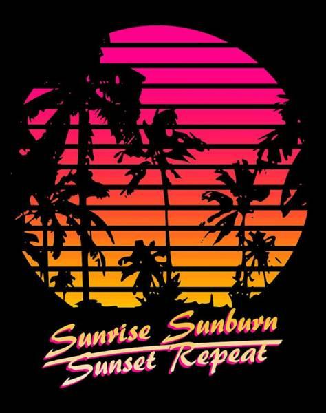Wall Art - Digital Art - Sunrise Sunburn Sunset Repeat by Filip Hellman