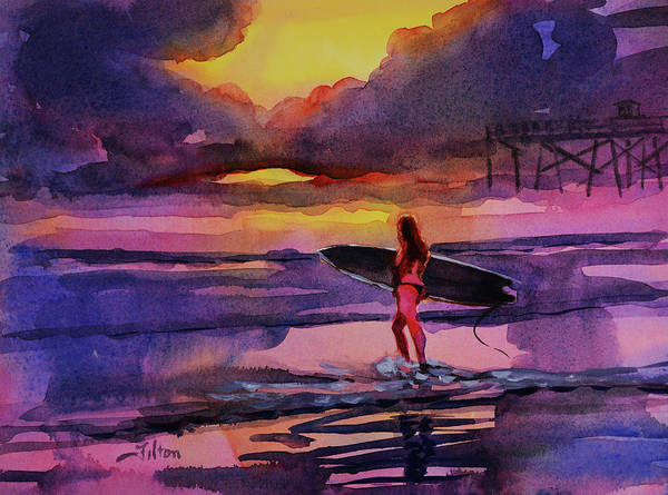 Painting - Sunrise Surf  9-20-18 by Julianne Felton