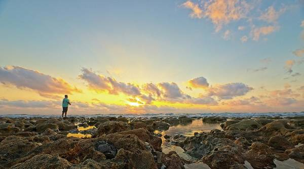 Photograph - Sunrise Surf Fishing 2 by Steve DaPonte