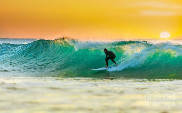 Wall Art - Photograph - Sunrise Surfing by Sw photo