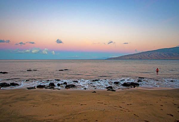 Photograph - Sunrise Swim by Anthony Jones