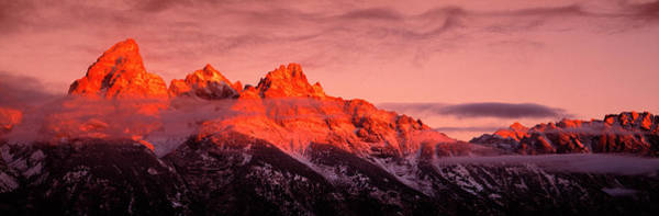 Wall Art - Photograph - Sunrise, Teton Range, Grand Teton by Panoramic Images