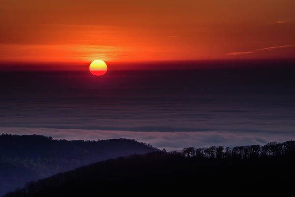 Photograph - Sunrise Through The Clouds by William Christiansen