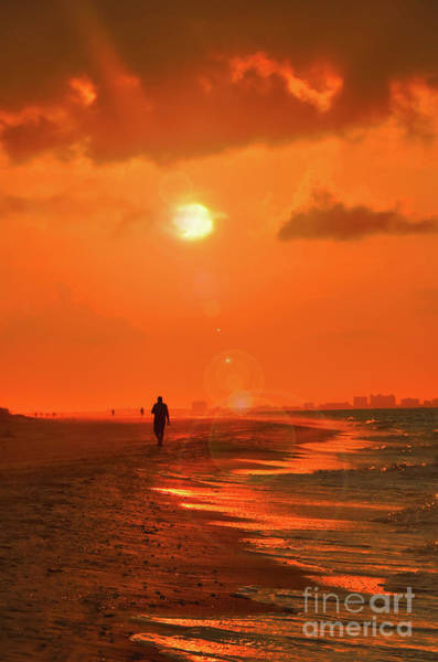 Photograph - Sunrise Walk On Sanibel Island by Jeff Breiman