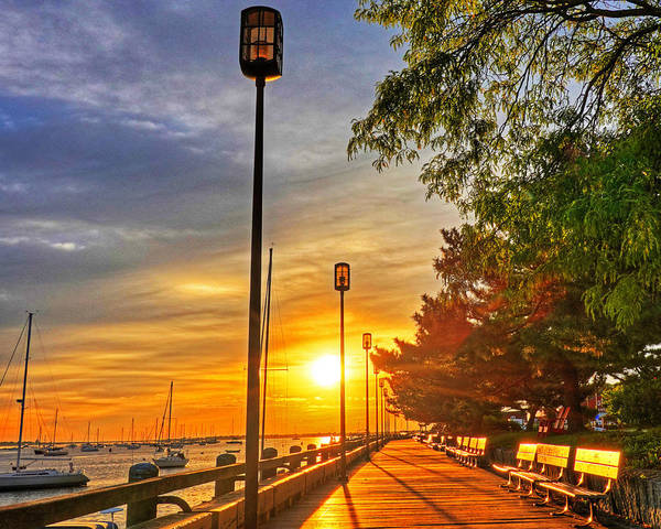 Photograph - Sunrise Walk On The Newburyport Waterfront Newburyport Ma by Toby McGuire