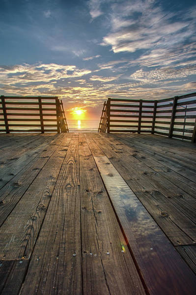 Photograph - Sunrise Walkway by Dillon Kalkhurst