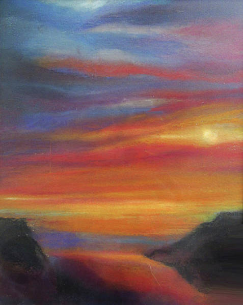 Pastel - Sunset 1 by Jean Batzell Fitzgerald