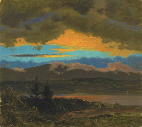 Wall Art - Painting - Sunset Across The Hudson Valley, New York - Digital Remastered Edition by Frederic Edwin Church