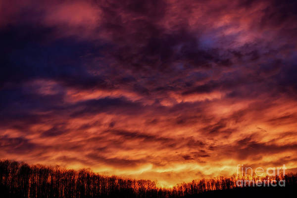 Photograph - Sunset Afterglow Over Ridge by Thomas R Fletcher