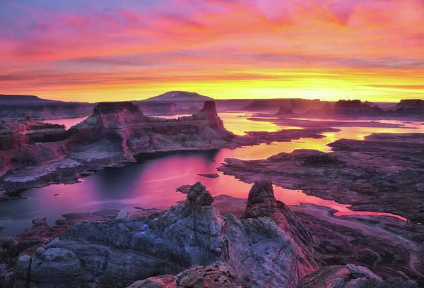 Wall Art - Photograph - Sunset Alstrom Point by Nan Zhong