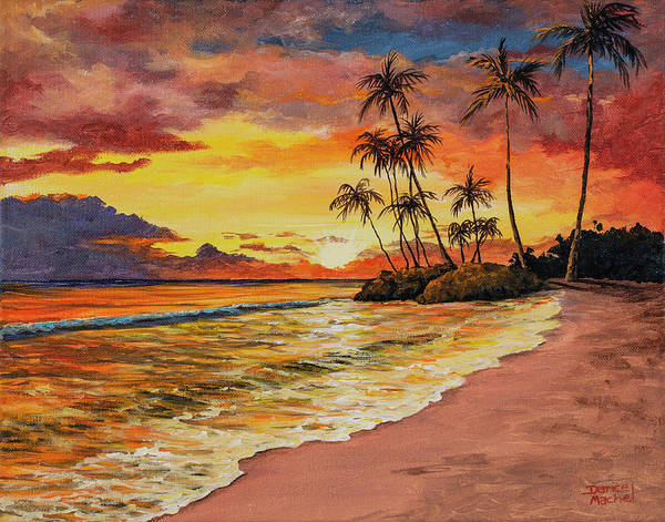 Painting - Sunset And Palms by Darice Machel McGuire