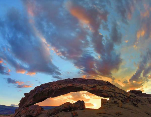 Photograph - Sunset Arch, Grand Staircase-escalante by