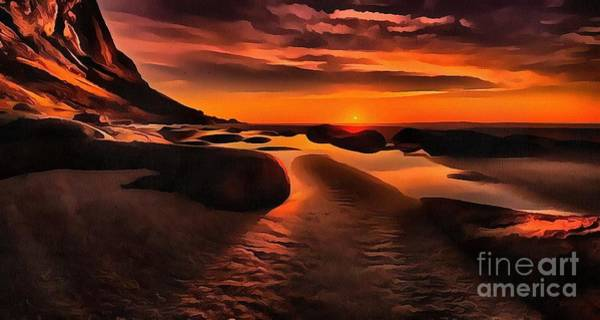 Painting - Sunset Around The Lens by Catherine Lott