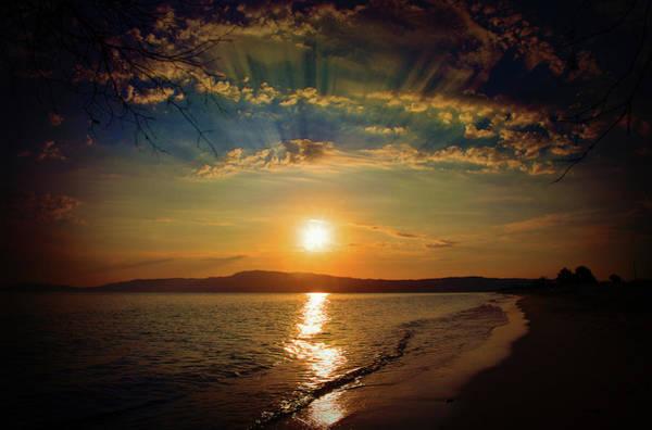 Photograph - Sunset Artistry by Milena Ilieva
