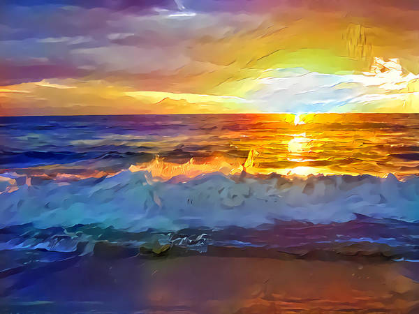 Wall Art - Digital Art - Sunset by Artly Studio