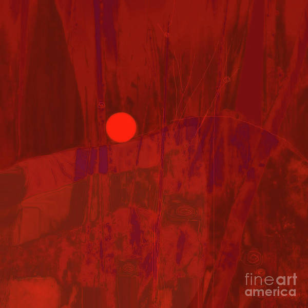 Organic Abstraction Mixed Media - Sunset  The Siler Metaphorm by Zsanan Studio