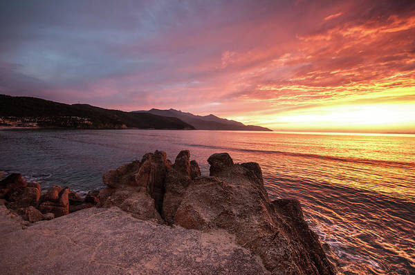 Elba Photograph - Sunset At Biodola Beach by I'm A Freelance Graphicdesigner With Passion For Photography